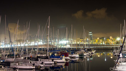 barcelona port vell harbour boats 4k Footage