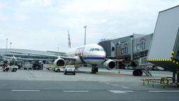 Airport Airplane Flight Passengers Travel Fly Travel International stock footage