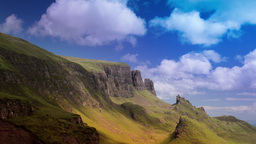 quiraing isle of skye scotland timelapse mountains Archivo