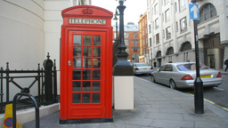 london telephone boxes red phonebooths Footage