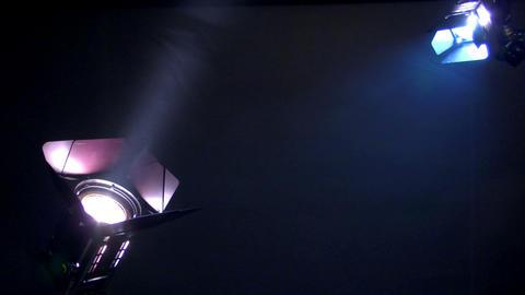 10635 interview background spotlights soft smoke loop Stock Video Footage