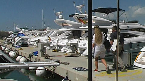 Yacht charter Stock Video Footage