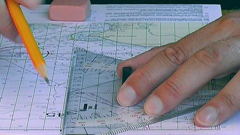 Sea chart Stock Video Footage