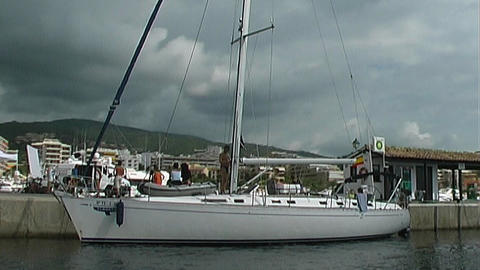 Sailing yacht Stock Video Footage