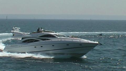 Motor yacht Stock Video Footage