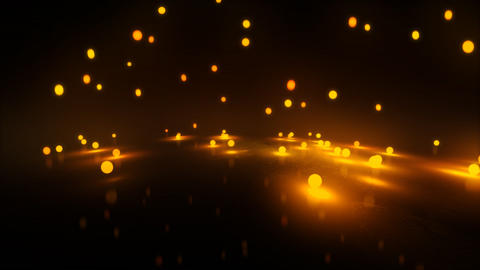 orange Bouncing light balls Animation
