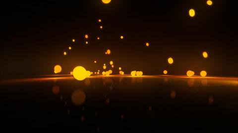 orange Bouncing light balls Stock Video Footage