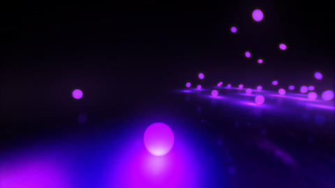 purple Bouncing light balls Stock Video Footage