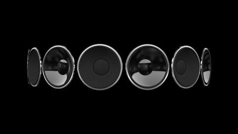 Disco Speaker AB1 HD Stock Video Footage