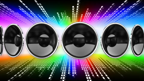 Disco Speaker AL1 HD Stock Video Footage