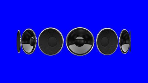 Disco Speaker AM1 HD Stock Video Footage
