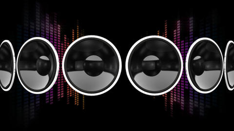 Disco Speaker AR1 HD Stock Video Footage