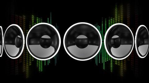 Disco Speaker AR1 HD Stock Video Footage