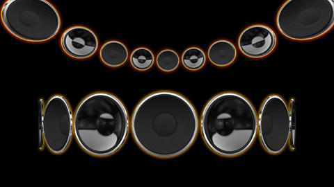 Disco Speaker CC1 HD Stock Video Footage