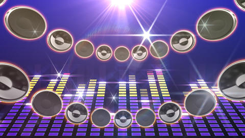 Disco Speaker CD1 HD Stock Video Footage