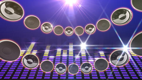 Disco Speaker CD1 HD Stock Video Footage