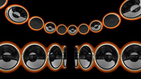 Disco Speaker CS1 HD Stock Video Footage