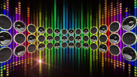 Disco Speaker DD1 HD Stock Video Footage
