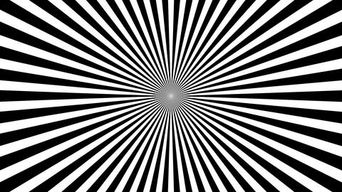 B&W Psychedelic Spinning Loop 02 Stock Video Footage