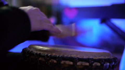 Hand Drum CU 01 Stock Video Footage