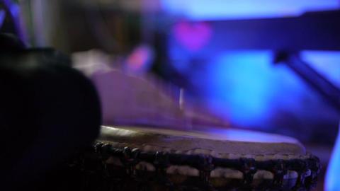 Hand Drum CU 01 Stock Video Footage