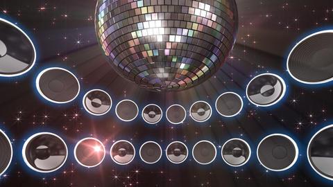 Disco Speaker CS3 HD Stock Video Footage