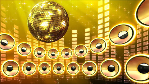 Disco Speaker CS5 HD Stock Video Footage