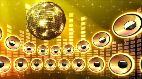 Disco Speaker CS5 HD Stock Video Footage