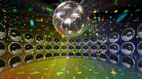 Disco Speaker DC4 HD Stock Video Footage
