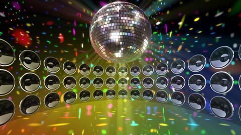Disco Speaker DC4 HD Stock Video Footage