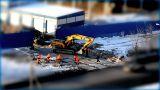 yellow excavator Footage