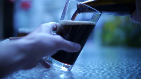 Beer Pour 01 Stock Video Footage