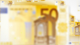 50 EURO bill flying Stock Video Footage