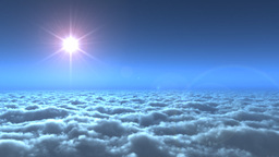 Flying above clouds,movie intro Stock Video Footage