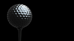 Rotating golf ball on tee in macro HD , seamless LOOP Animation