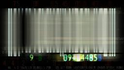 Bar code flashing and animated random numbers,sound included Stock Video Footage