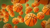 Basketballs Background stock footage