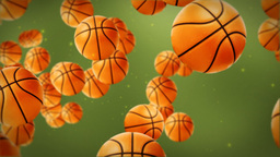 Basketballs background Animation
