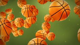 Basketballs background Animation