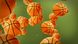Basketballs background Stock Video Footage
