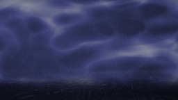 Blue background with heavy rain and lightning Stock Video Footage