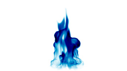 Blue fire tongues,seamless loop Stock Video Footage