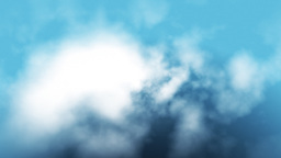 Aerial view of clouds flying through,seamless loop Animation
