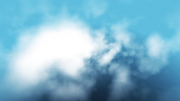 Aerial view of clouds flying through,seamless loop Stock Video Footage