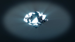 Diamond rotating on xyz axes looping Stock Video Footage