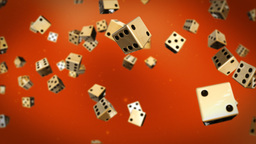 Dices against red Stock Video Footage