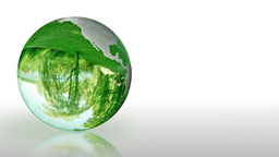 Earth Globe made of glass, environmental conservation, looping Animation