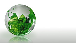 Earth Globe made of glass, environmental conservation,... Stock Video Footage
