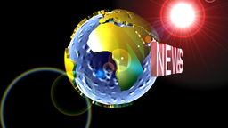 Globe news background Animation