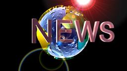 Globe news background Stock Video Footage